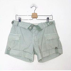 Free People Green Cargo Shorts